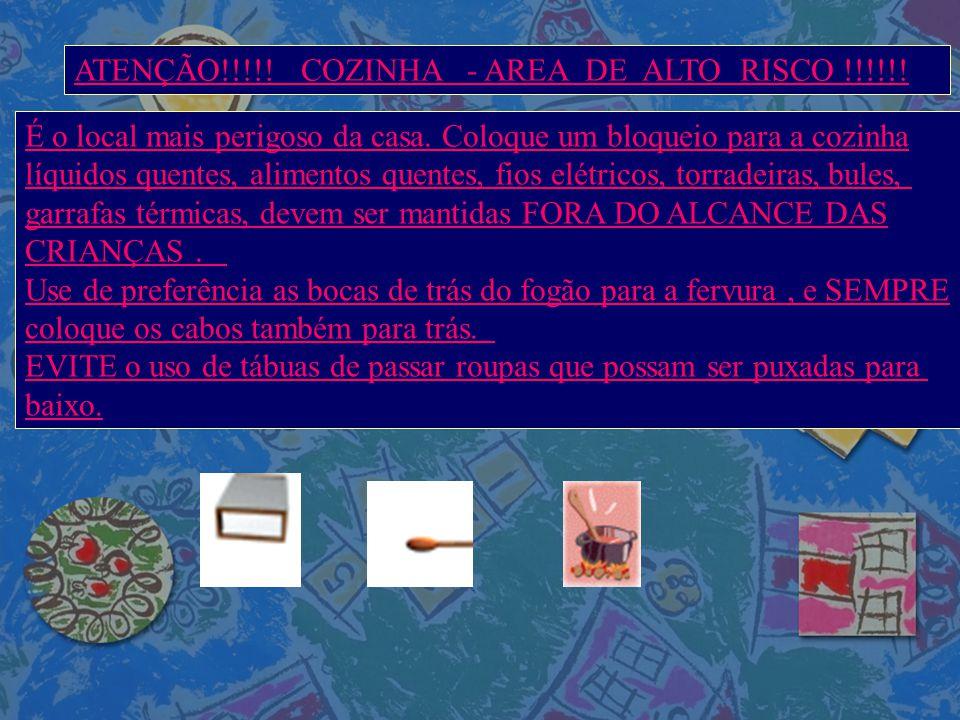 ATENÇÃO!!!!! COZINHA - AREA DE ALTO RISCO !!!!!! É o local mais perigoso da casa. Coloque um bloqueio para a cozinha líquidos quentes, alimentos quent
