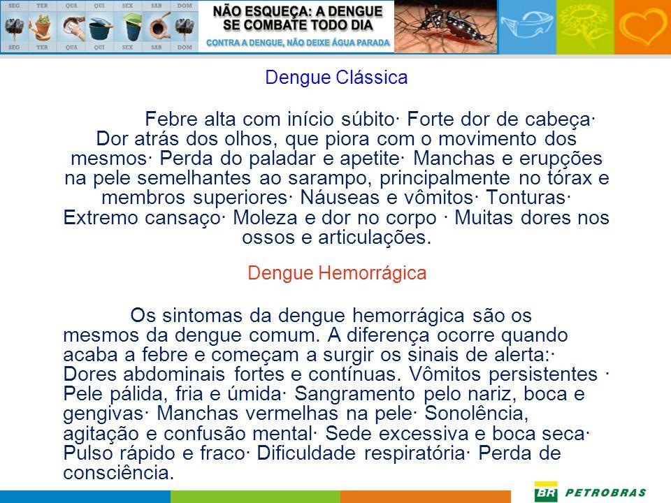 Sintomas Após a picada do mosquito, os sintomas se manifestam a partir do terceiro dia. O tempo médio do ciclo é de 5 a 6 dias.O intervalo entre a pic