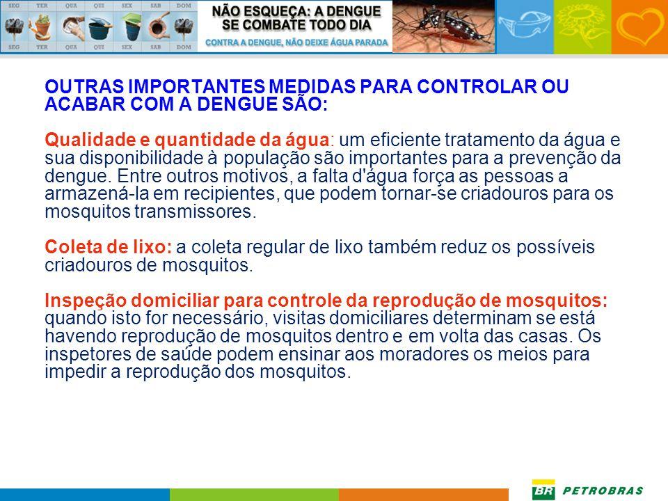 Fazer controle químico: Existem larvicidas seguros e fáceis de usar, que podem ser colocados nos recipientes de água para matar as larvas em desenvolv