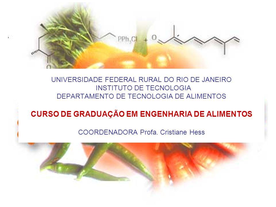 UNIVERSIDADE FEDERAL RURAL DO RIO DE JANEIRO INSTITUTO DE TECNOLOGIA DEPARTAMENTO DE TECNOLOGIA DE ALIMENTOS CURSO DE GRADUAÇÃO EM ENGENHARIA DE ALIME