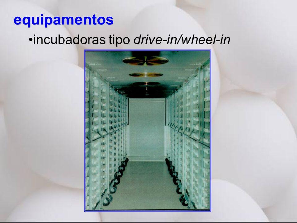 equipamentos •incubadoras tipo drive-in/wheel-in