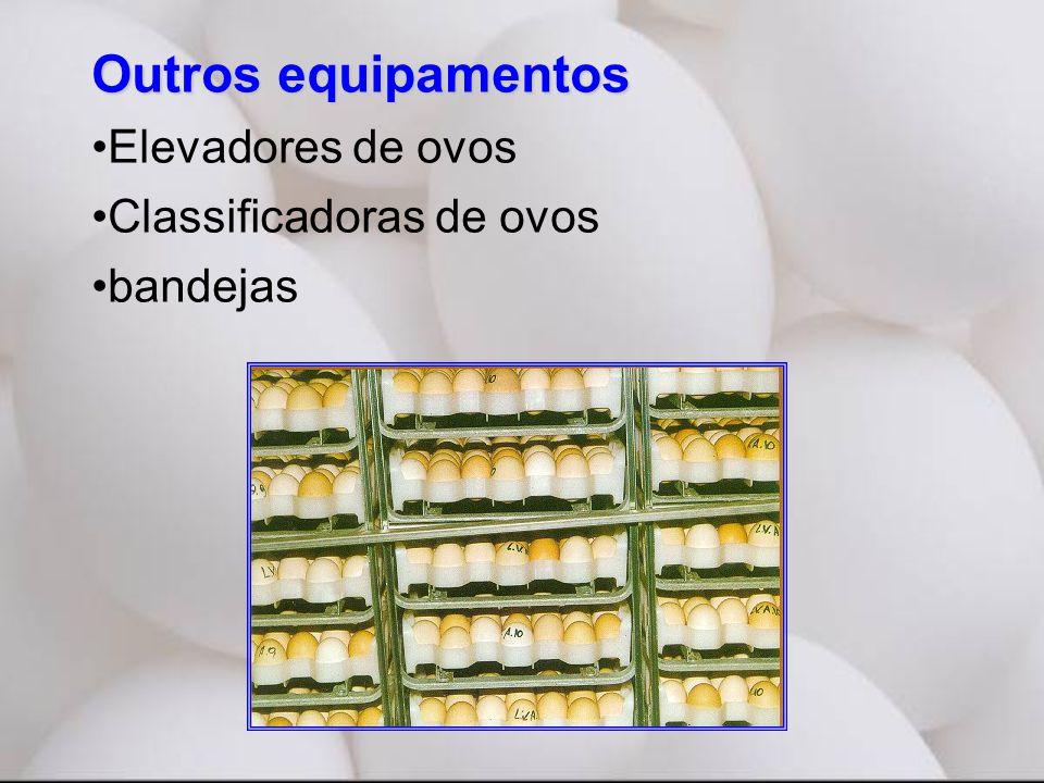 Outros equipamentos •Elevadores de ovos •Classificadoras de ovos •bandejas