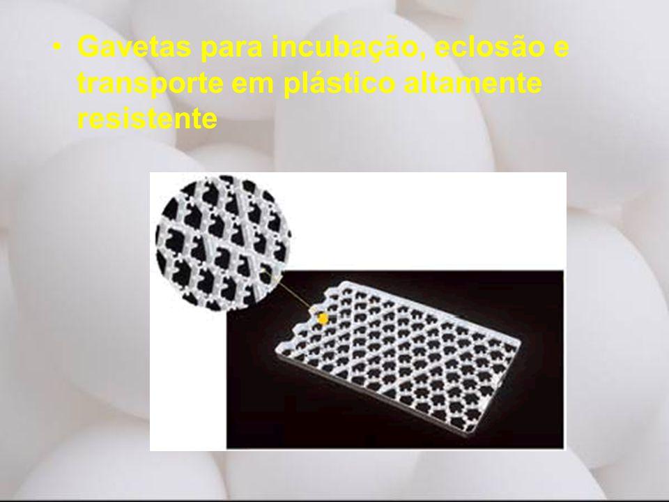 •Gavetas para incubação, eclosão e transporte em plástico altamente resistente
