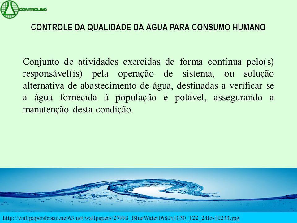 http://wallpapersbrasil.net63.net/wallpapers/25993_BlueWater1680x1050_122_24lo-10244.jpg CONTROLE DA QUALIDADE DA ÁGUA PARA CONSUMO HUMANO Conjunto de