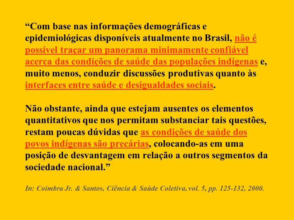 """""""Com base nas informações demográficas e epidemiológicas disponíveis atualmente no Brasil, não é possível traçar um panorama minimamente confiável ace"""