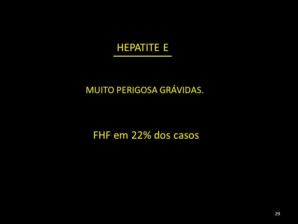 29 HEPATITE E MUITO PERIGOSA GRÁVIDAS. FHF em 22% dos casos