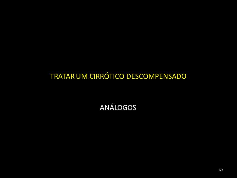 TRATAR UM CIRRÓTICO DESCOMPENSADO ANÁLOGOS 69