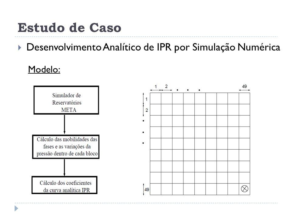 Estudo de Caso  Desenvolvimento Analítico de IPR por Simulação Numérica Modelo: