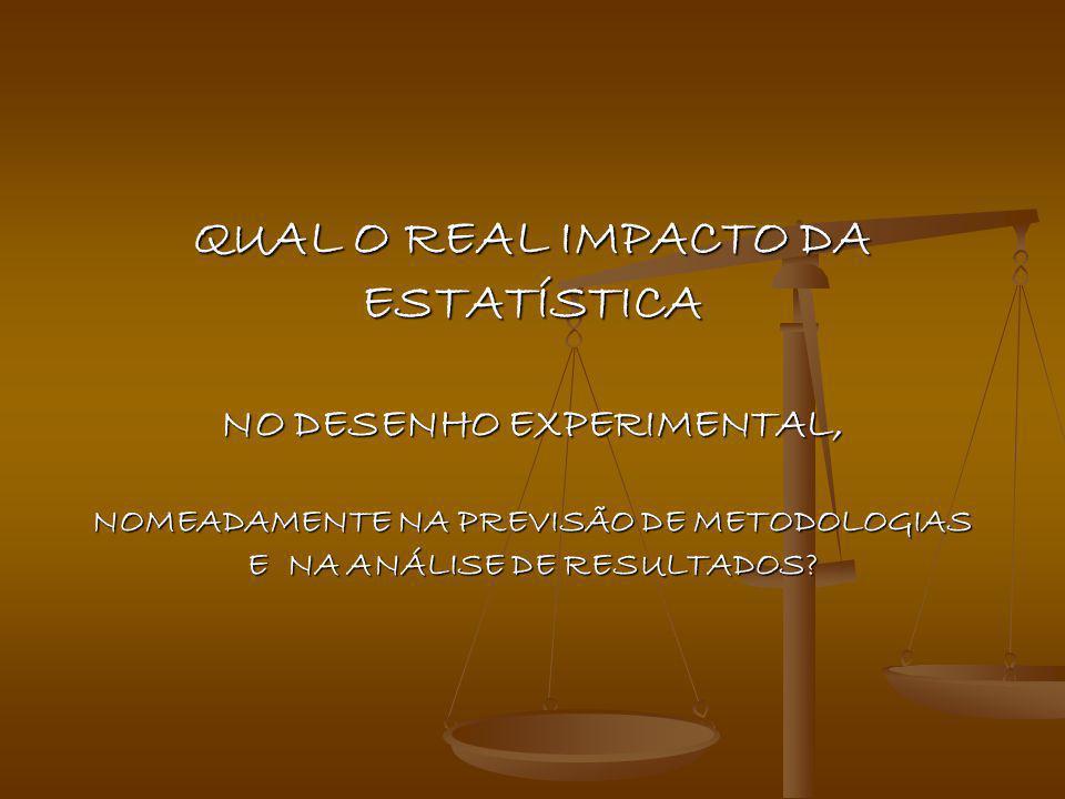 Estatística no Desenho Experimental 2x2 Qui- quadrado ANOVA t –Student Regressão Linear Principais métodos estatísticos em Toxicologia