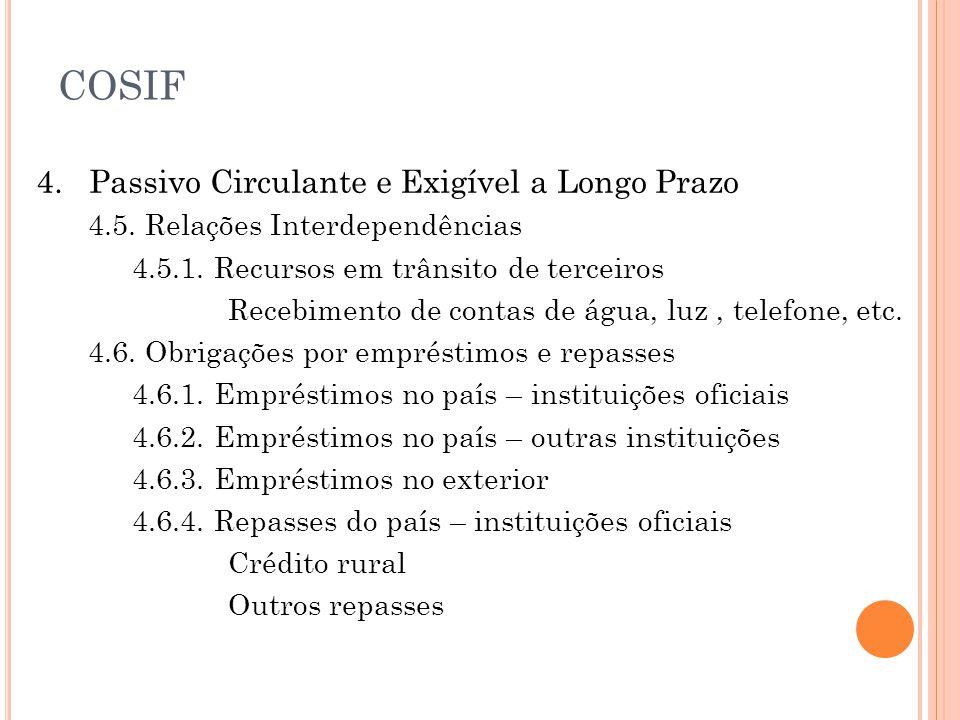 4.Passivo Circulante e Exigível a Longo Prazo 4.5.