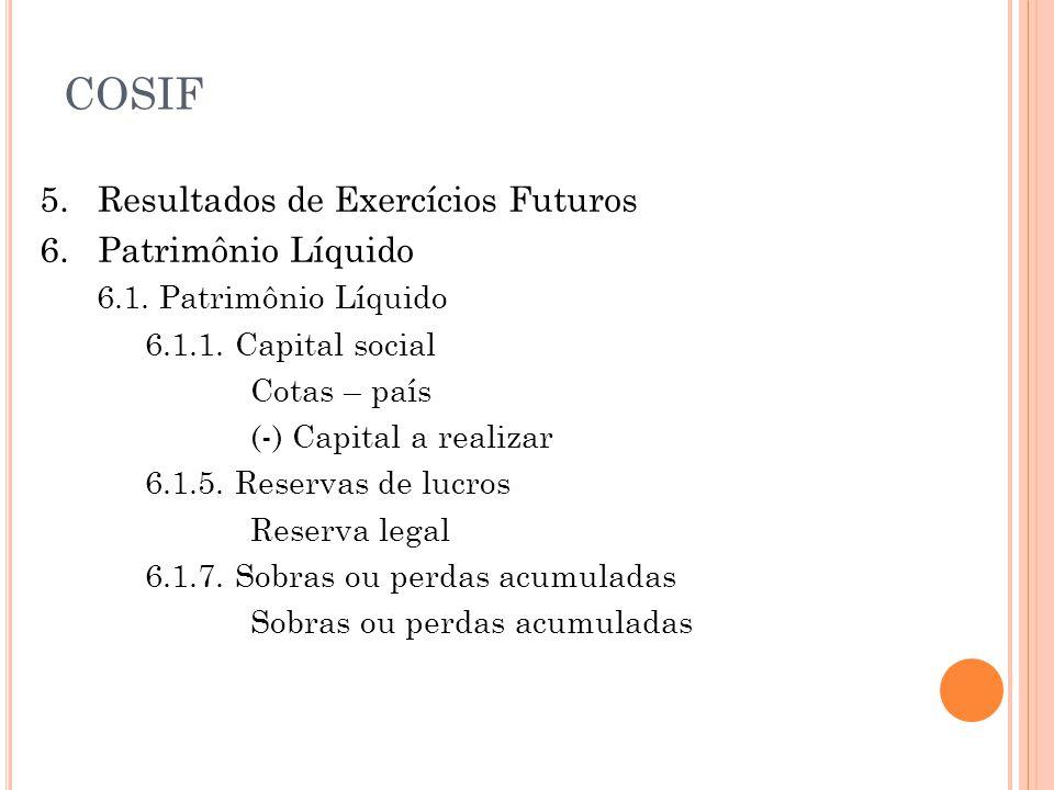 5.Resultados de Exercícios Futuros 6. Patrimônio Líquido 6.1.