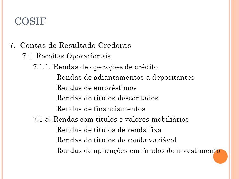 7.Contas de Resultado Credoras 7.1. Receitas Operacionais 7.1.1.