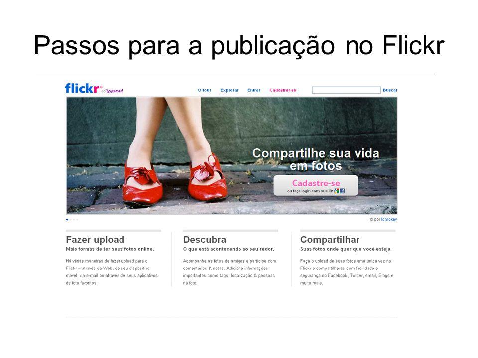 Passos para a publicação no Flickr