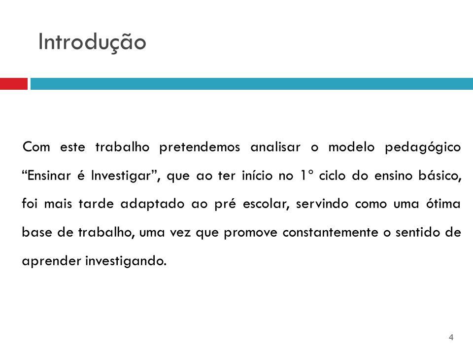 Características do Modelo  O Modelo Ensinar é Investigar surgiu entre 1978 e 1987, coordenado pela Dr.ª Maria da Luz leitão.