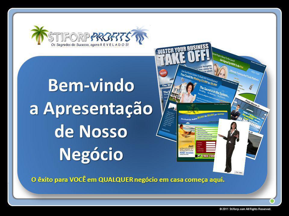 © 2011 Stiforp.com All Rights Reserved. Bem-vindo a Apresentação de Nosso Negócio O êxito para VOCÊ em QUALQUER negócio em casa começa aqui.