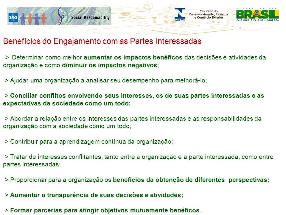 Benefícios do Engajamento com as Partes Interessadas > Determinar como melhor aumentar os impactos benéficos das decisões e atividades da organização