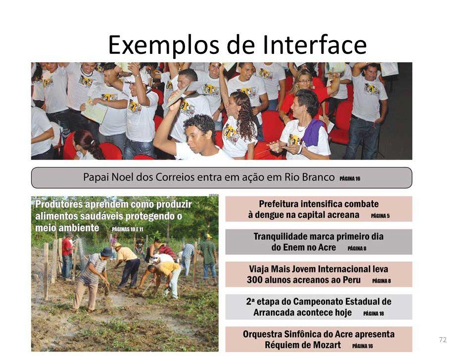 Exemplos de Interface 72