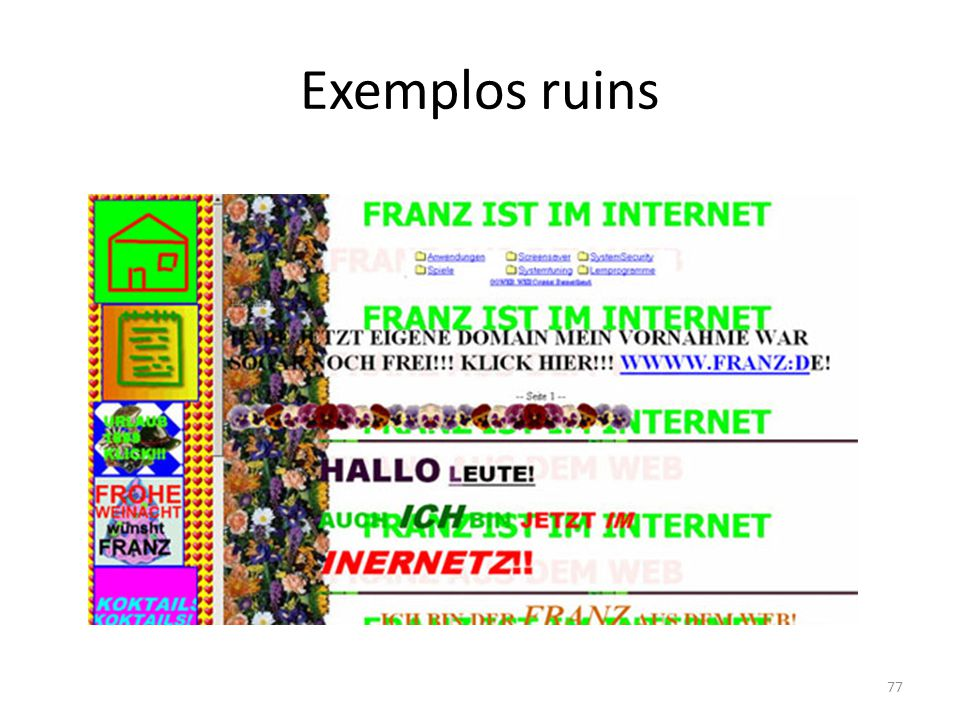 Exemplos ruins 77