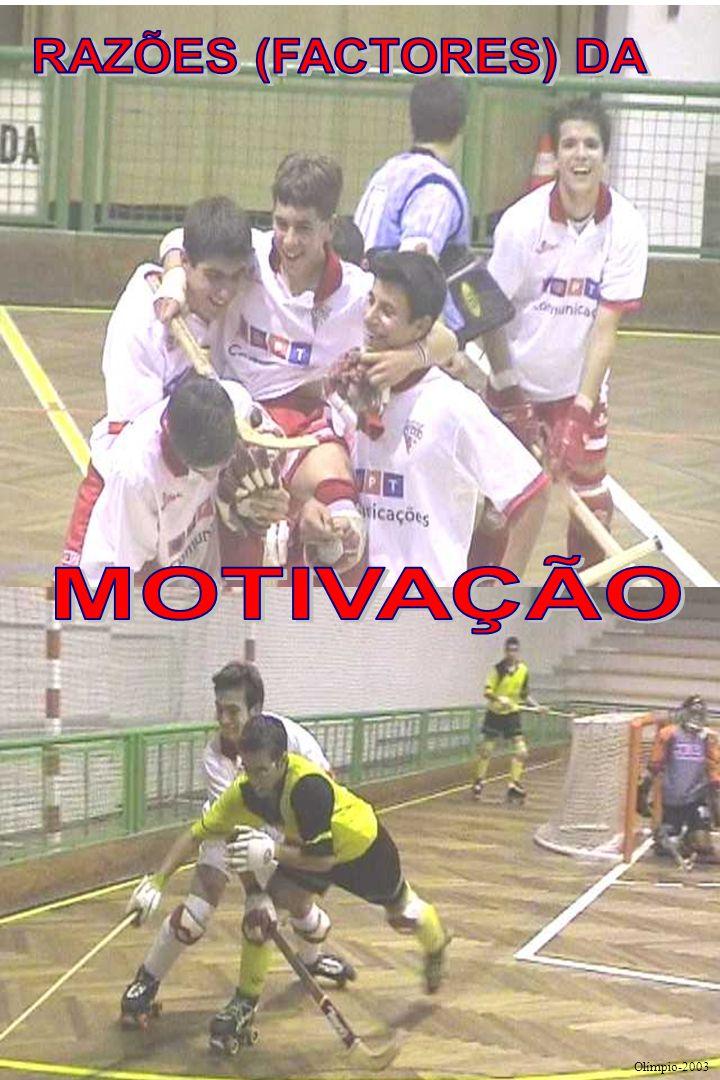 O QUE OS ATRAÍU OU COMO VIERAM PARA O HÓQUEI Motivação dos jovens hoquistas portugueses Olímpio 2003/4 K Realce para a importância de ver jogos ao viv