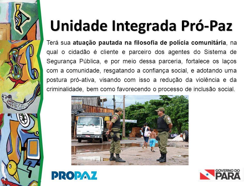 Unidade Integrada Pró-Paz Terá sua atuação pautada na filosofia de polícia comunitária, na qual o cidadão é cliente e parceiro dos agentes do Sistema