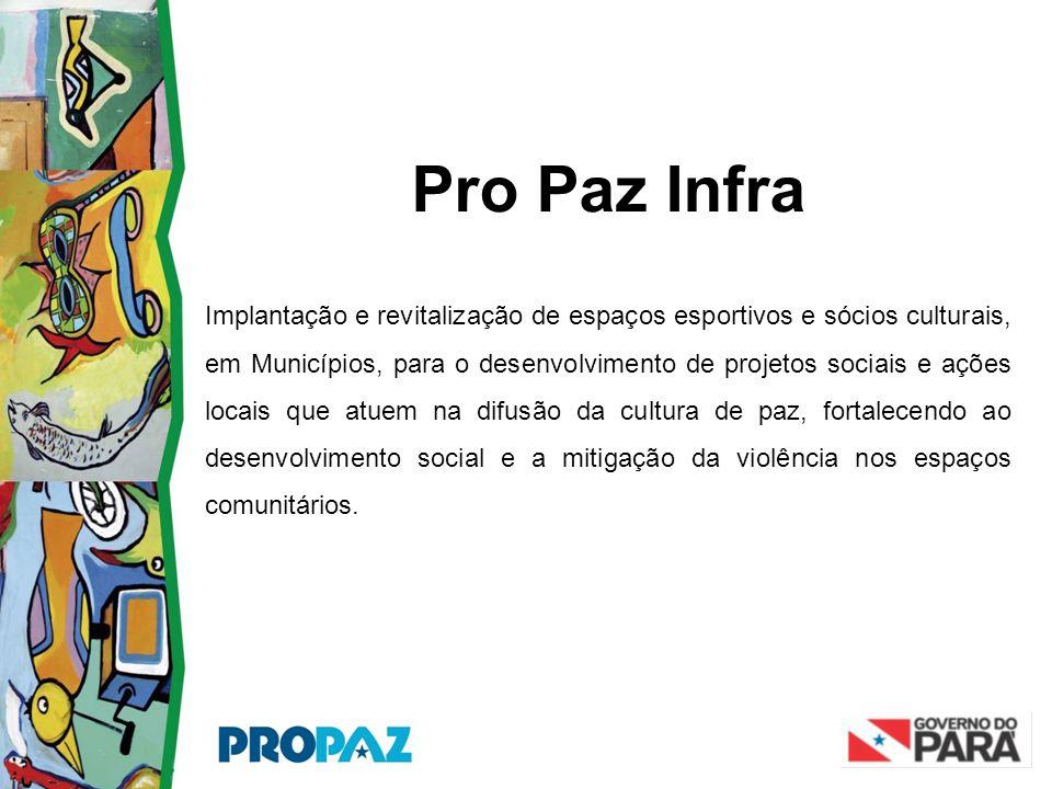 Pro Paz Infra Implantação e revitalização de espaços esportivos e sócios culturais, em Municípios, para o desenvolvimento de projetos sociais e ações