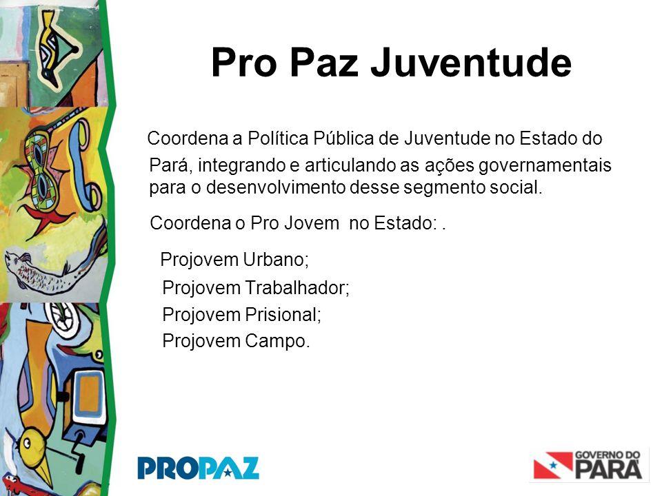 Pro Paz Juventude Coordena a Política Pública de Juventude no Estado do Pará, integrando e articulando as ações governamentais para o desenvolvimento