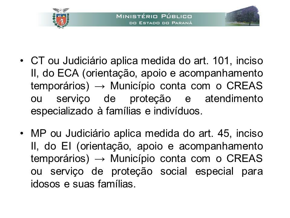 •CT ou Judiciário aplica medida do art.