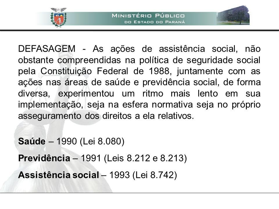 Motivos do atraso histórico - ausência de recursos - histórico assistencialista - atuação residual, não sistêmica - invisibilidade dos usuários