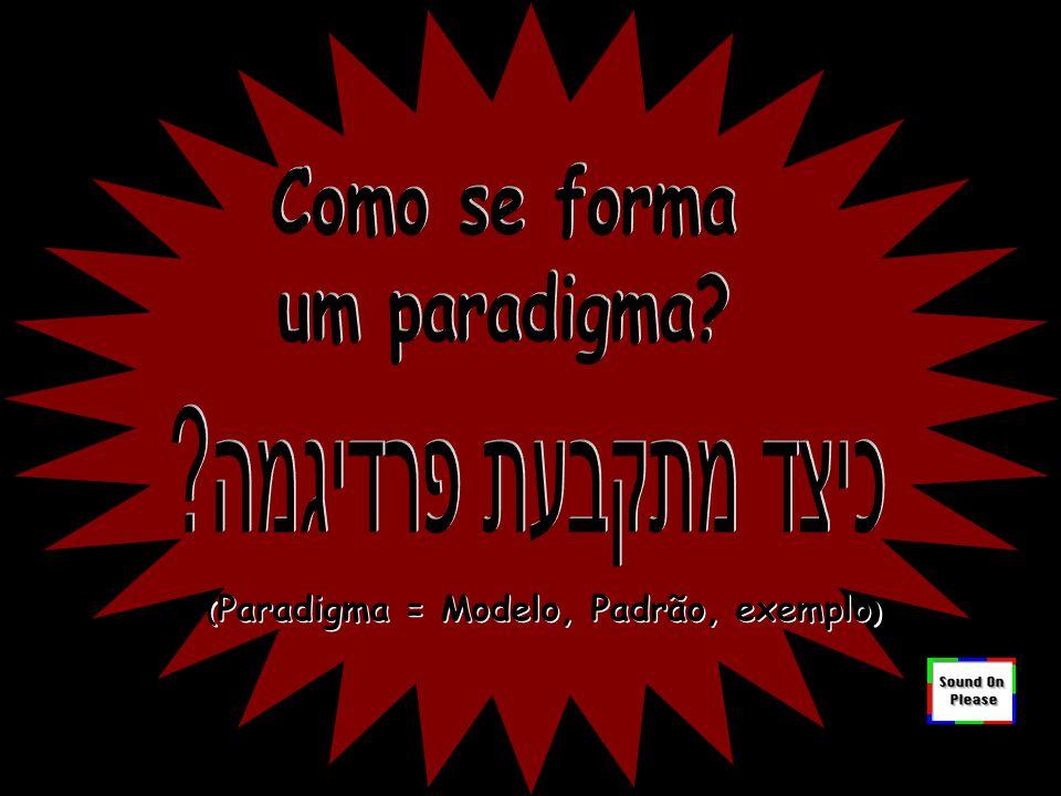 Paradigma A apresentação que se encontra a partir do próximo slide foi criada por artista israelense desconhecido e editada em inglês por Cindy Holdemqueen.