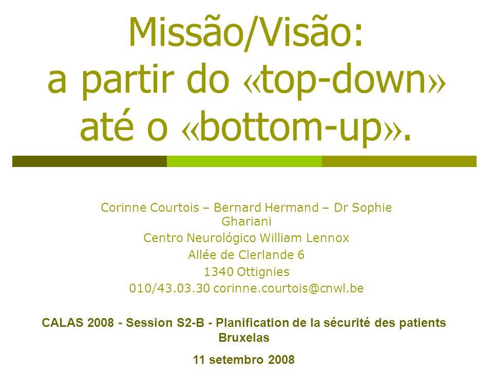 Missão/Visão: a partir do « top-down » até o « bottom-up ».
