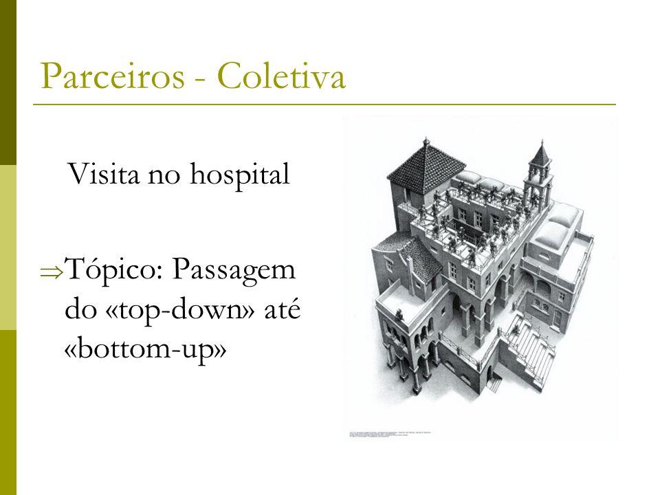 Parceiros - Coletiva Visita no hospital  Tópico: Passagem do «top-down» até «bottom-up»