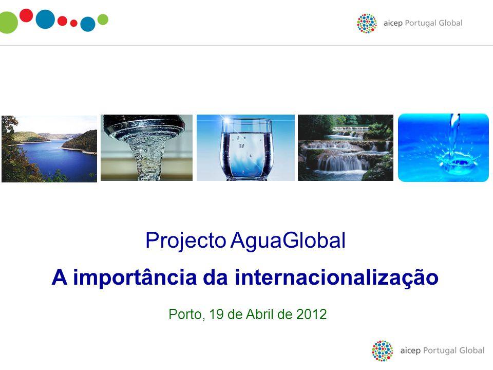Projecto AguaGlobal A importância da internacionalização Porto, 19 de Abril de 2012