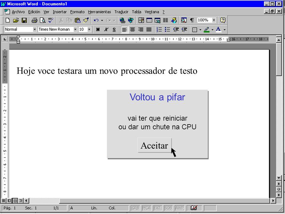 Hoje voce testara um novo processador de testo Texto e não testo IMBECIL!! Texto e não testo IMBECIL!! Com Corretor Ortográfico personalizado e sacana