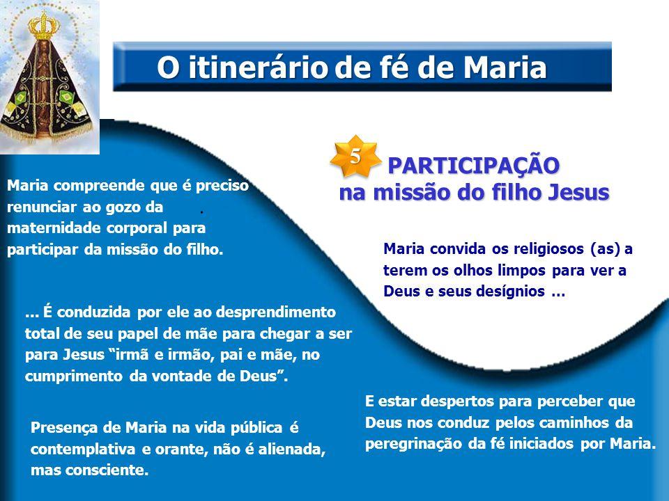 PARTICIPAÇÃO na missão do filho Jesus. O itinerário de fé de Maria Maria compreende que é preciso renunciar ao gozo da maternidade corporal para parti