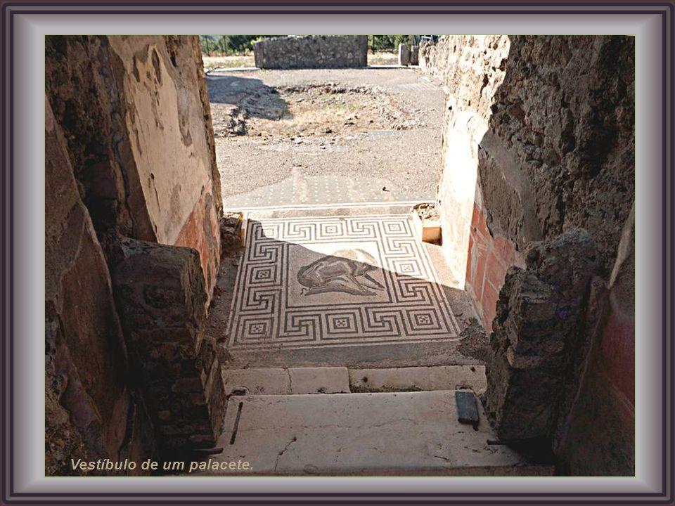Uma das várias termas de Pompeia