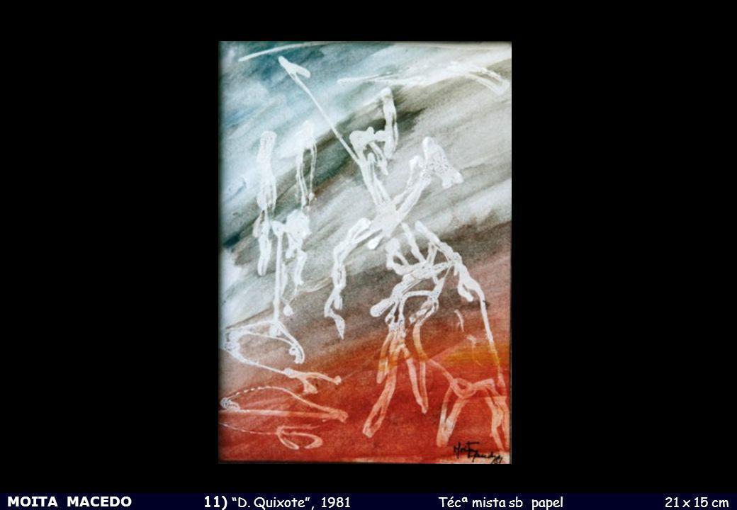 MOITA MACEDO 11) D. Quixote , 1981 Técª mista sb papel 21 x 15 cm