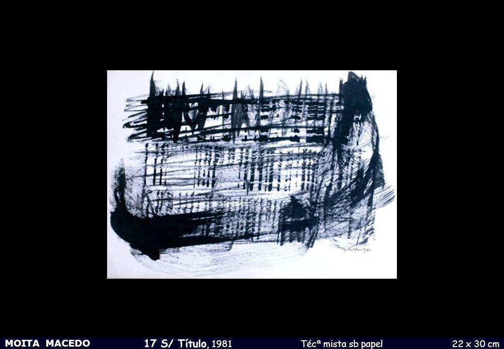 MOITA MACEDO 17 S/ Título, 1981 Técª mista sb papel 22 x 30 cm