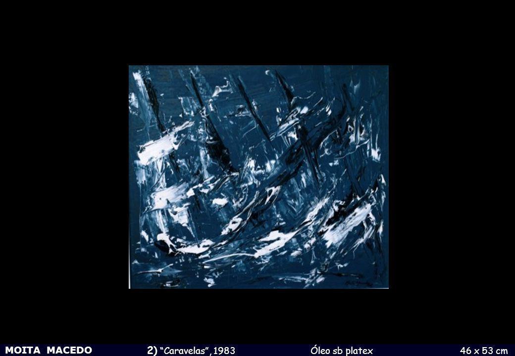 MOITA MACEDO 3) Cavalo ao entardecer , 1980 Técª mista sb papel 15 x 21 cm
