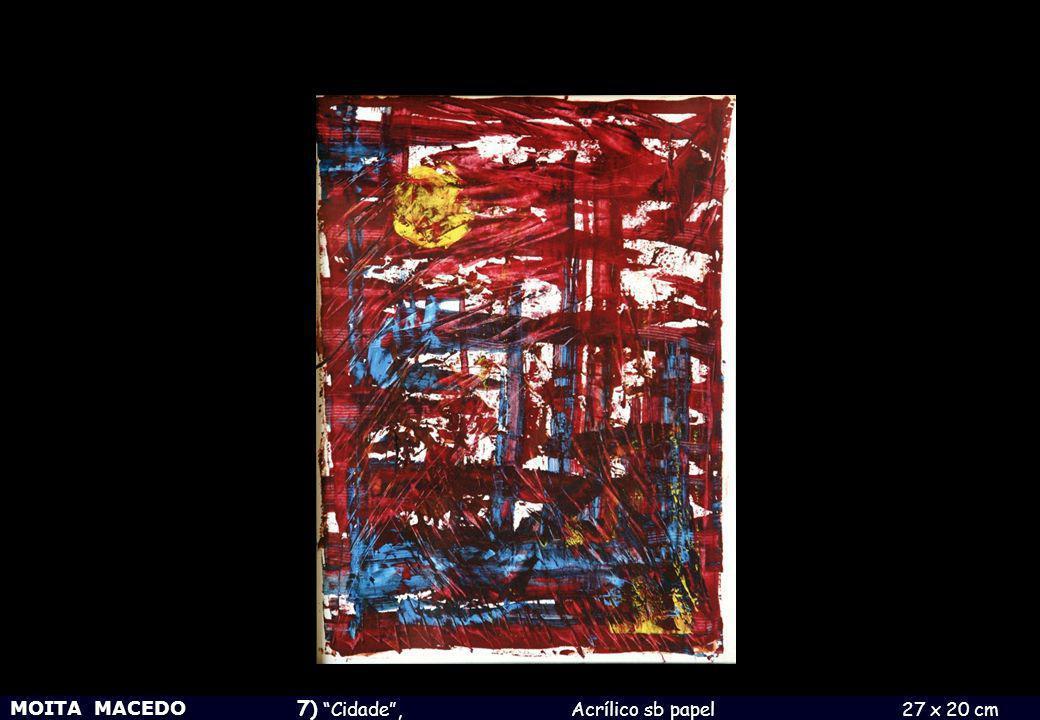 MOITA MACEDO 8) Cidade , 1971 Técnica mista sb papel 15 x 21 cm