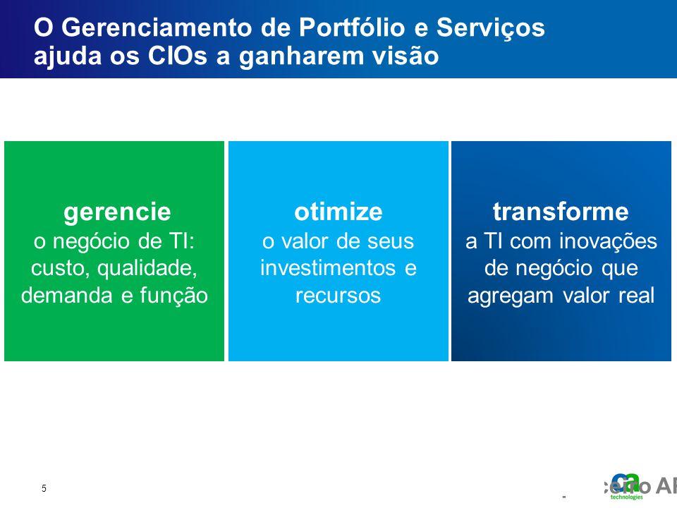 Fórum executivo do parceiro AP O Gerenciamento de Portfólio e Serviços ajuda os CIOs a ganharem visão 5 transforme a TI com inovações de negócio que a