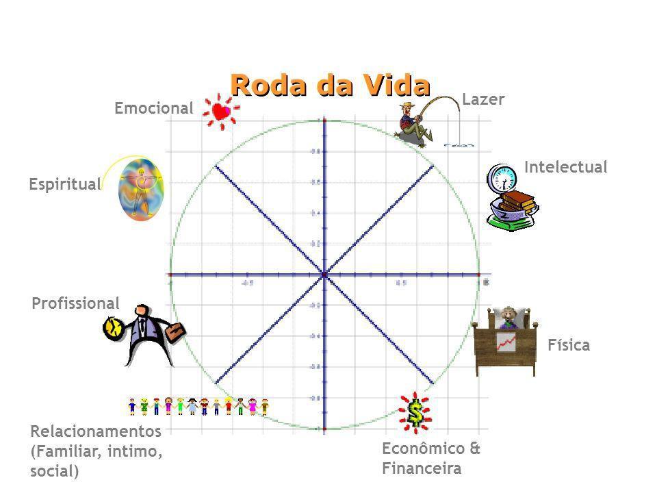 Econômico & Financeira Profissional Lazer Intelectual Emocional Relacionamentos (Familiar, intimo, social) Física Espiritual