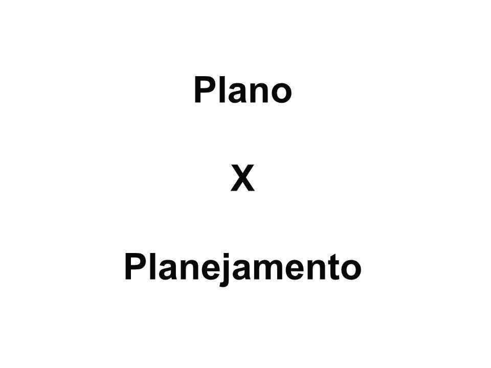 Plano X Planejamento Conceitos