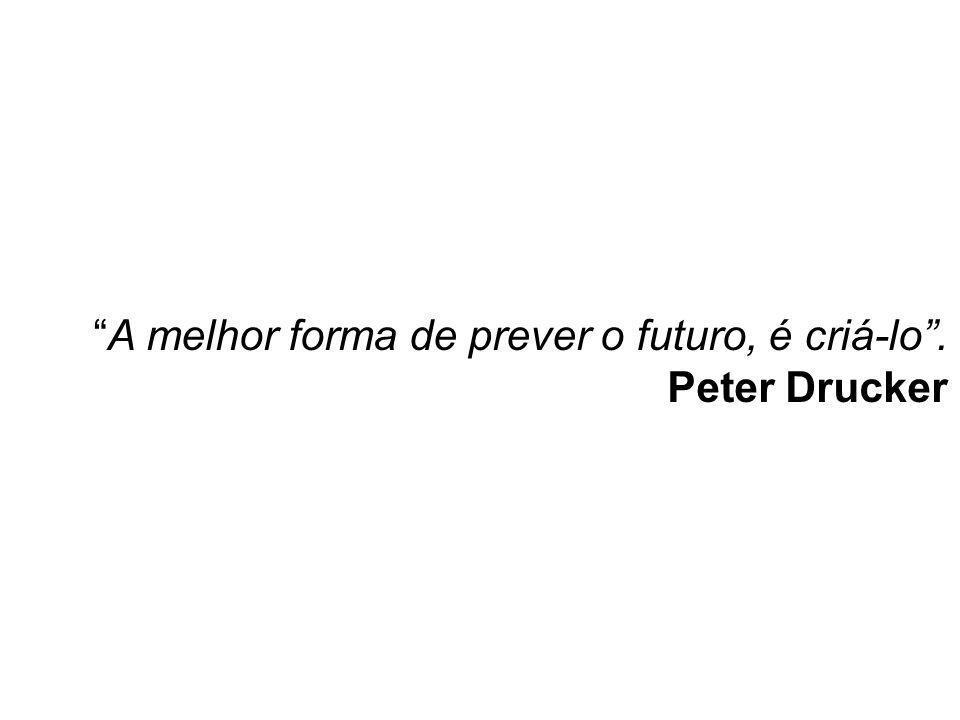 """""""A melhor forma de prever o futuro, é criá-lo"""". Peter Drucker Para refletir"""