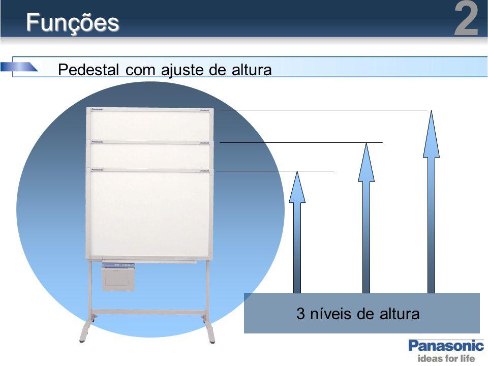 Funções Pedestal com ajuste de altura 2 3 níveis de altura