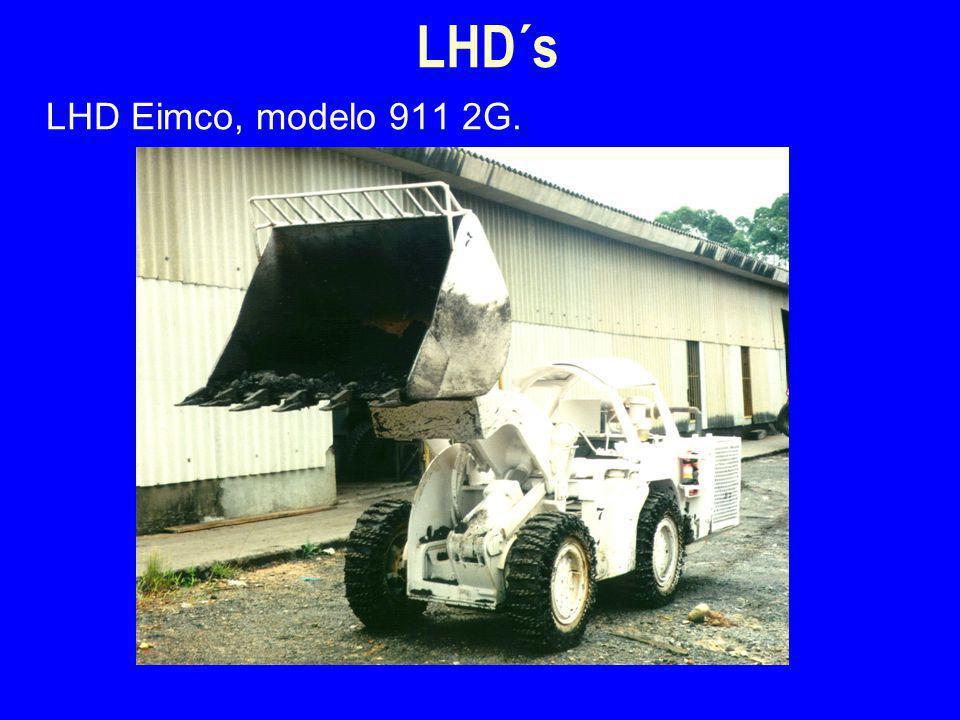 LHD Eimco, modelo 911 2G. LHD´s
