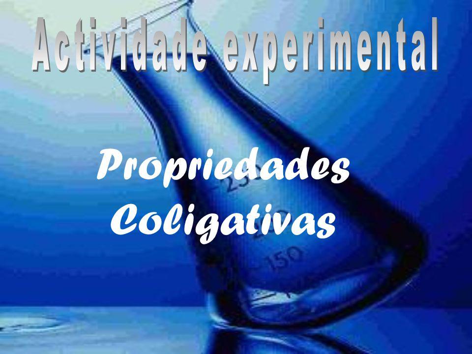 Índice 1.Propriedades coligativas a)Pressão de Vapor b)Leí de Raoult c)Elevação do ponto de Ebulição (ebulioscopia) d) Molalidade e)Abaixamento do ponto de congelação (crioscopia)