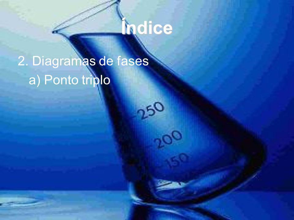 Índice 2. Diagramas de fases a) Ponto triplo