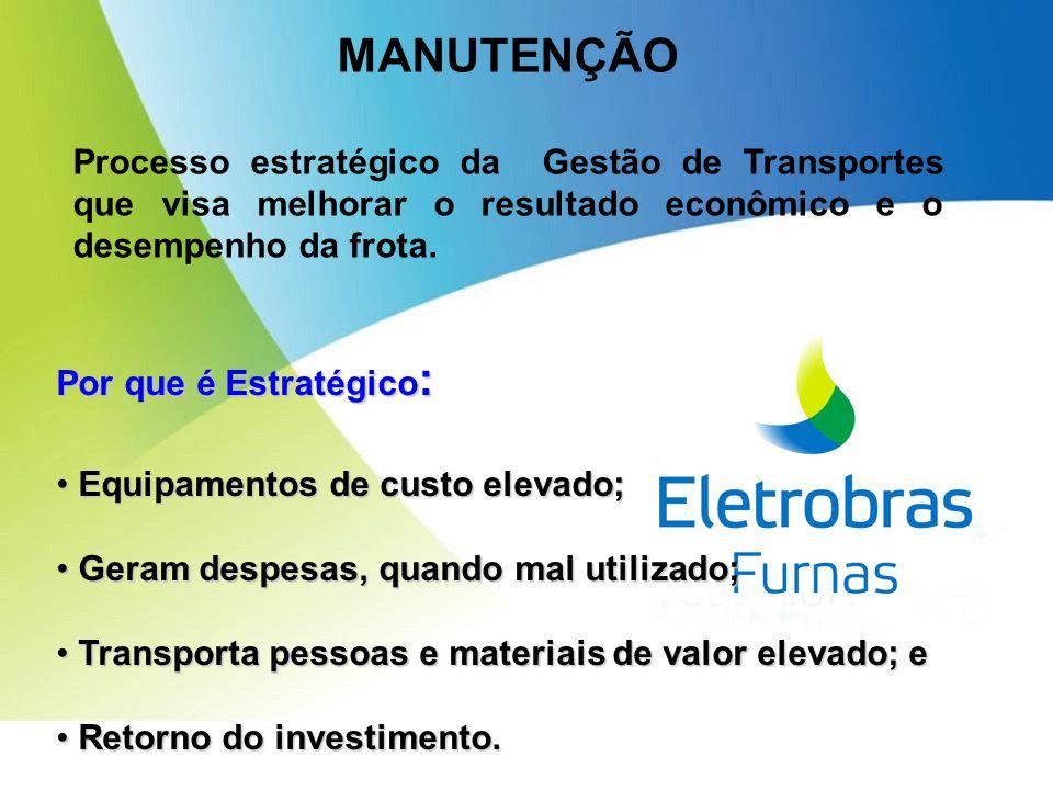 MANUTENÇÃO Processo estratégico da Gestão de Transportes que visa melhorar o resultado econômico e o desempenho da frota.