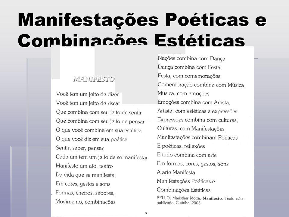 Manifestações Poéticas e Combinações Estéticas