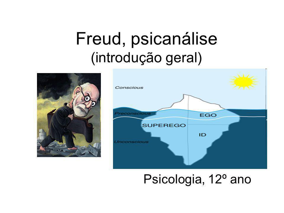 Freud, psicanálise (introdução geral) Psicologia, 12º ano